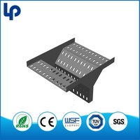 high performance TUVperforated cable tray forming production line , electric zinc plated perforated cable tray