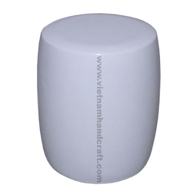 Quality eco-friendly handpainted vietnamese drum shaped lacquer home furnishings in white