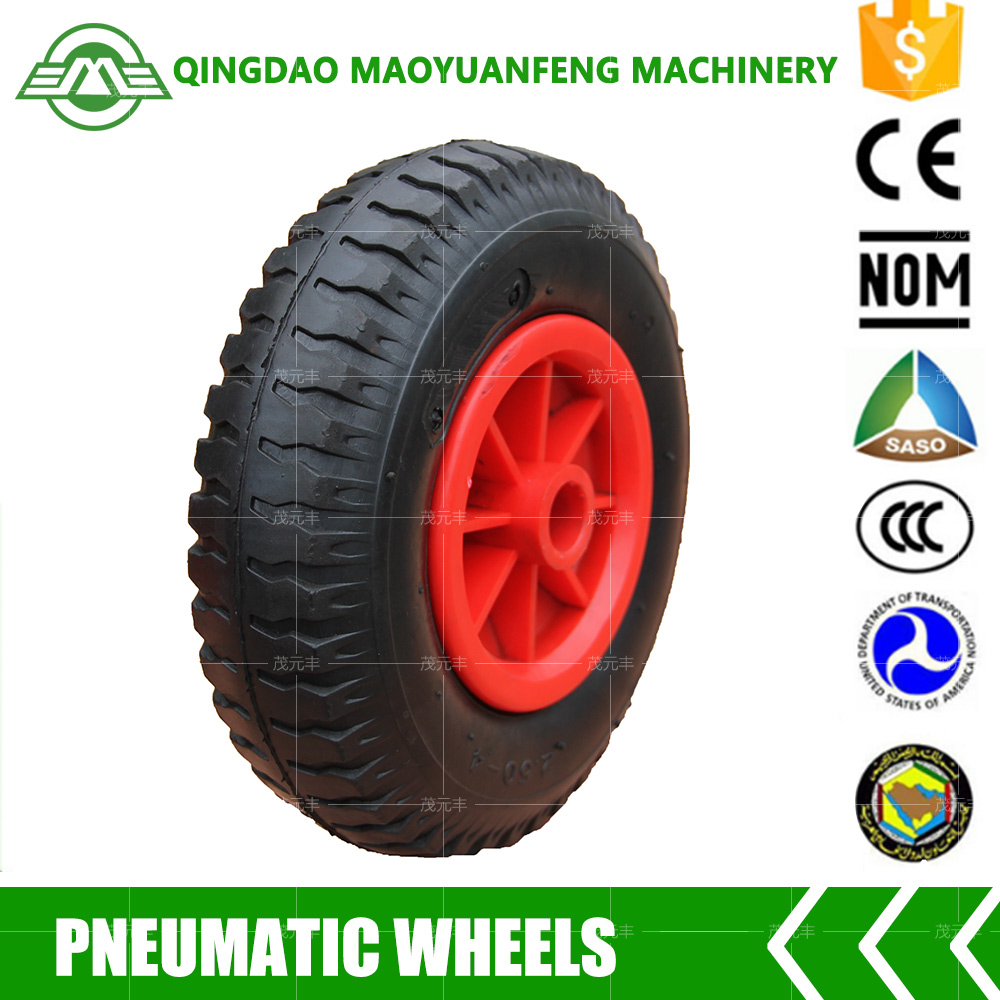 small rubber wheel with bearing 8 inch 2.50-4 rubber wheels pneumatic wheel