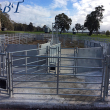 Galvanized pipe livestock heavy duty metal corral/cattle fence panels for horses