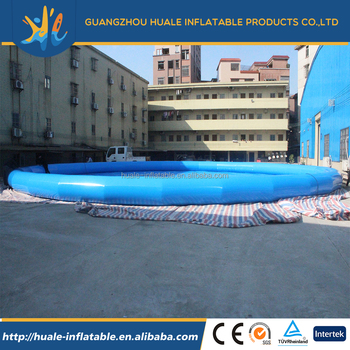 Giant water park inflatable round water swim pool inflatable swimming pond for adult