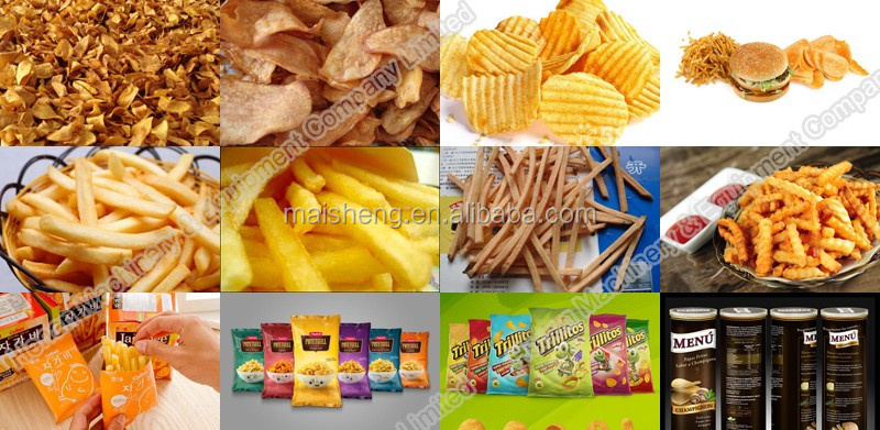 High output potato chips making machine manufacture