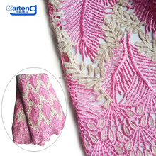 Attractive Design Emboirdery Wax Cord Net Fabric 3D Flower Embroidery Lace