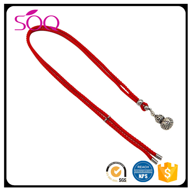 2017 New handmade korean unique adjustable jewelry charm pendant braided rope chain necklace