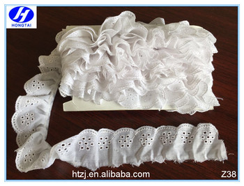 Wrinkle Trimming Lace, gold trimming lace, flower trim lace from china