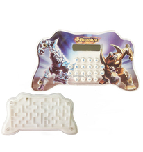 8 Digit novelty game Controlor shaped calculator with labyrinth game promational gifts