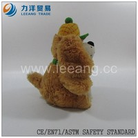 long plush dog with scarf and hat custom design OEM,CE/ASTM safety stardard