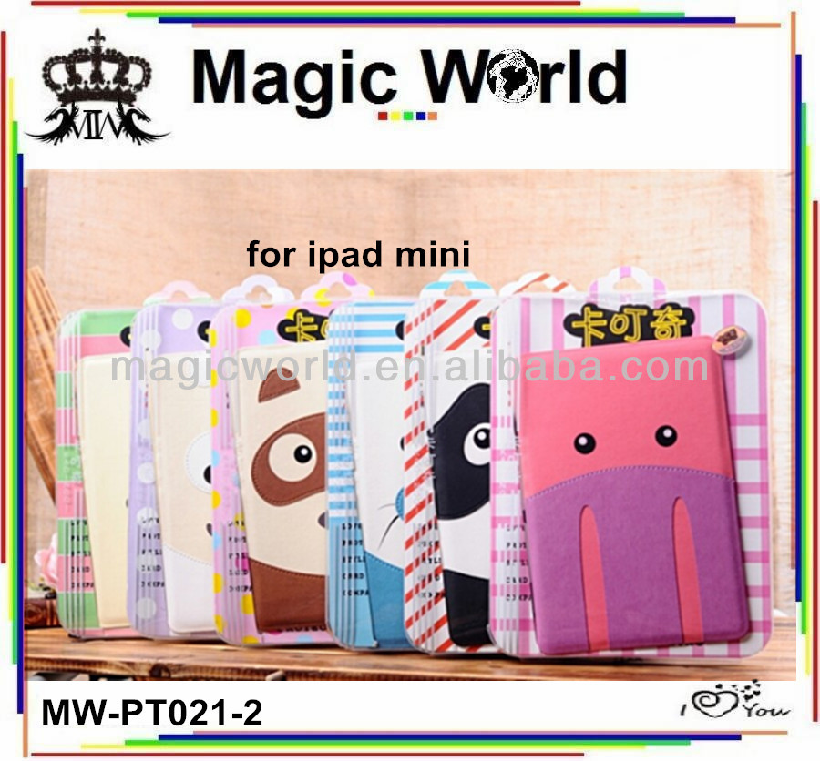 FOR IPAD MINI WHOLESALE ANIMAL CUTE LEATHER CASE