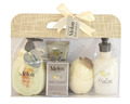 Melon Scent Skin Care Spa Set Body lotion shower gel Bubble bath Gift set