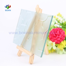 Qingdao 3mm 4mm 5mm 6mm Clear and Tinted Puzzle Textured Glass