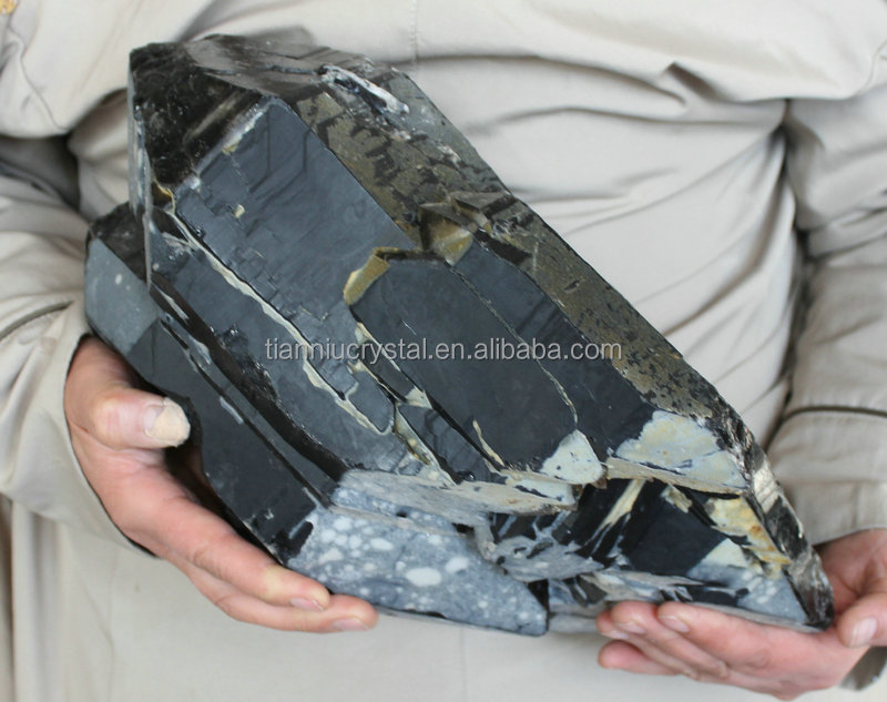 25LB Huge Natural Skeletal Black Quartz Crystal Cluster Double Points Original China ,Rock Specimens,Great Collection !