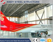 Light Weight Structural Steel prefabricated airplane hangar building