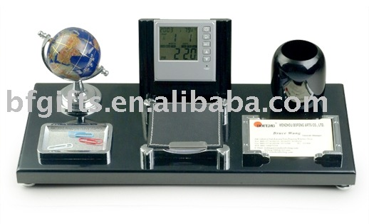 Desktop set,Globe,calendar,clock,notebook,name card holder:BFLE-GC26--1