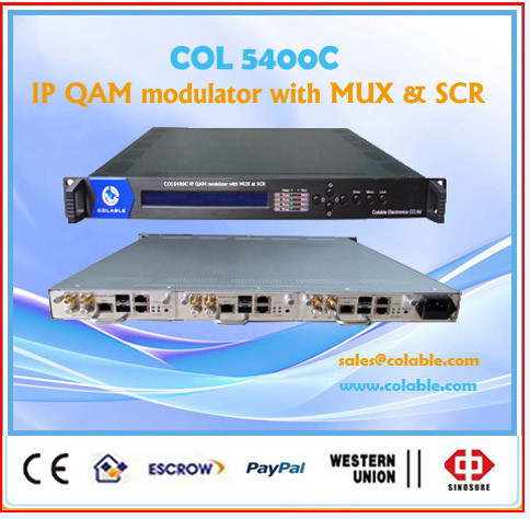 IP QAM Module, ip multiplexer scrambler and qam modulator