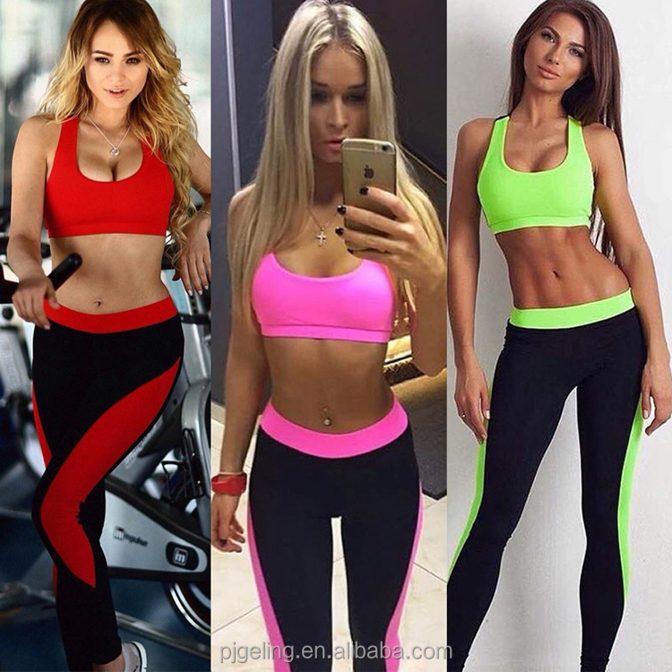 2018 Hot Selling Yoga Fitness Sports Tank Tops And Leggings A Set