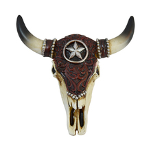 Wholesale Resin Animal Head Faux Taxidermy Wall Hanging Cow Skull