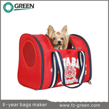 Red pink cute dog carriers for small dogs