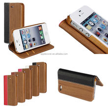 Wood Pattern Stand case for iPhone 4 4s 4g with Card Slots