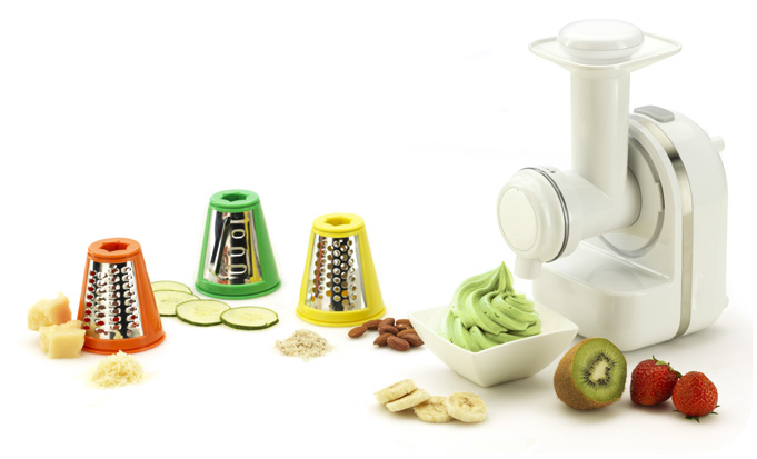 150W mini food processor with ice cream maker and salad maker and cirtus juicer