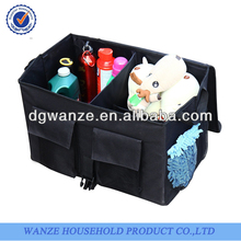 Foldable kids box tidy car organizer with cover