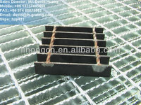 galvanized Hexagonal Square Twisted Cross Bars steel grating. hexagonal twisted rod steel grating