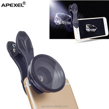 Apexel universal camera lens 20x macro lens +star filter 2 in 1 lens kit with portable traveling bag for mobile phone camera