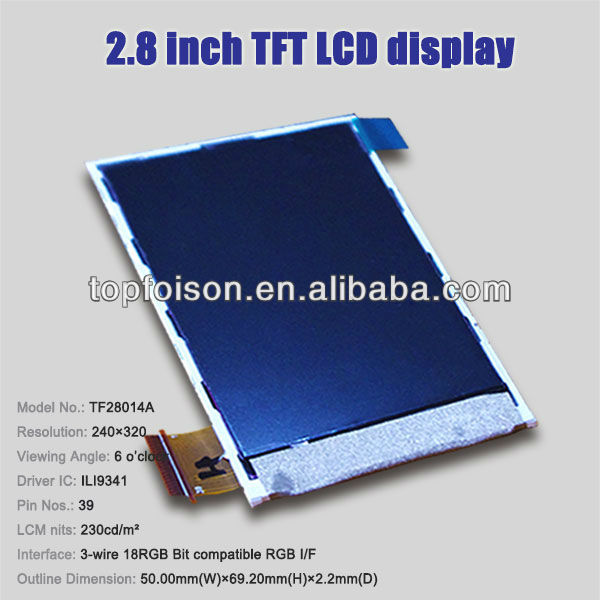 Factory selling 2.8'' lcd monitor lift mechanism module 240*320 TF28014A