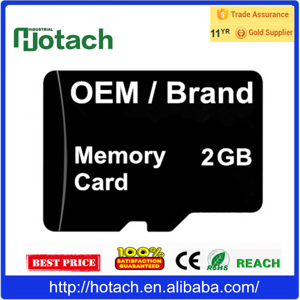 Support Car DVR Factory Memory Card 2GB Cheap