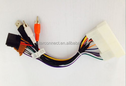 manufacturer female RCA audio video wire cable harness suitable for toyota