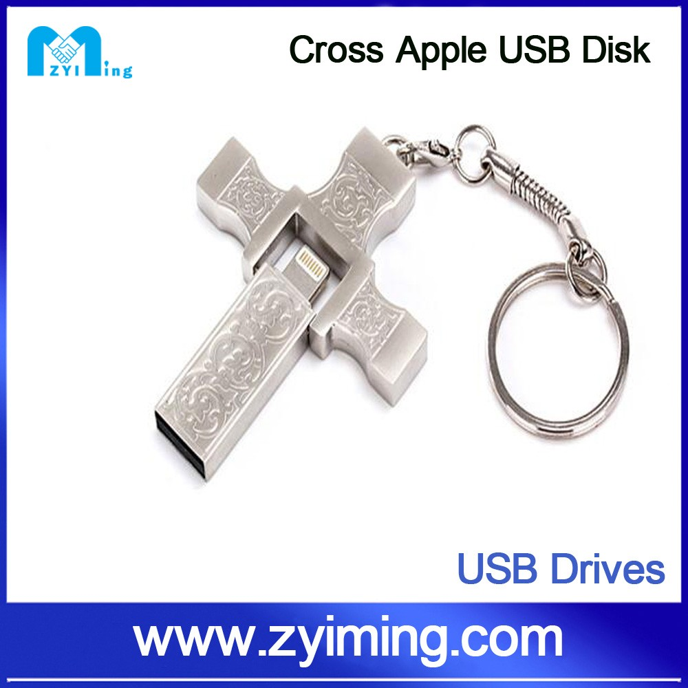 Zyiming factory wholesale 8/16/32/64/128gb 1dollar oem logo otg flash usb drive storer for iphone