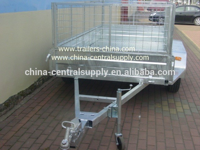 Wholesale buy Factory made High quality Galvanized Tandem Cage/Box trailer CT0080E-1