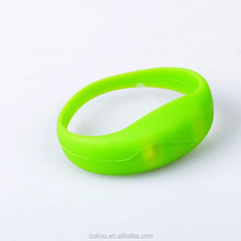 Silicone sound activated led bracelet light up motion activated led bracelet/light bracelet