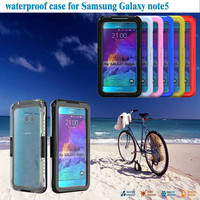 Armor first generation underwater surfing boating swimming shockproof waterproof plastic case cover for Samsung Galaxy NOTE 5
