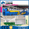 waste plastic PET bottle / PE PP film bags crushing washing recycling machine line