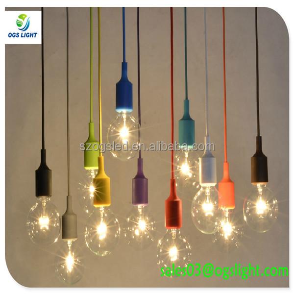 Stile industriale illuminazione a sospensione in vetro for Acquisto lampadine led on line