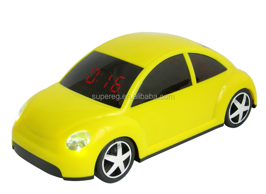Car promotional gift car shape LED showed time alarm clock