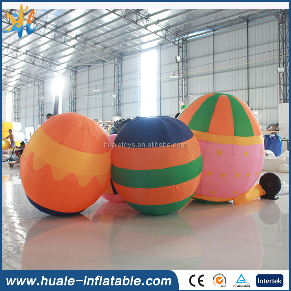 Inflatable Christmas decoration, inflatable colourful eggs for sale