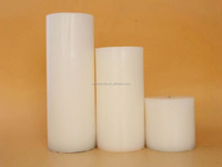 100% Paraffin Wax Material and Pillar Shape White Pillar Candles