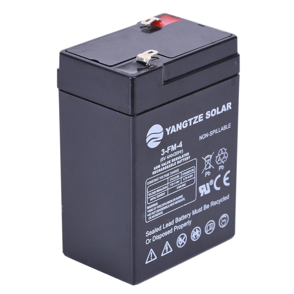 Deep cycle 6v4.0ah sealed lead acid battery