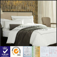 luxury white 400T plain sateen housekeeping linen size