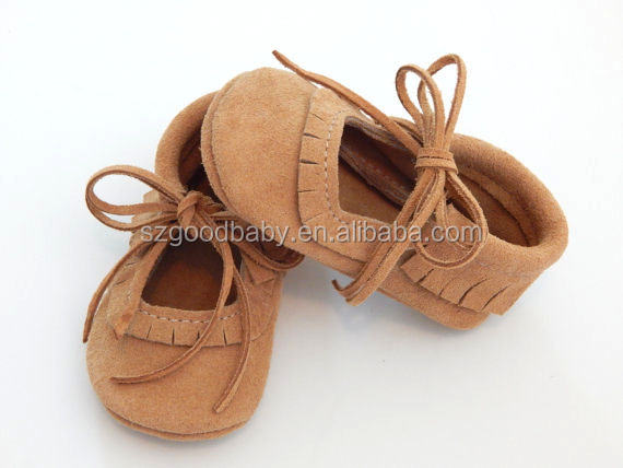 Low price brown suede spanish baby shoes cheap baby shoes fancy baby girls shoes