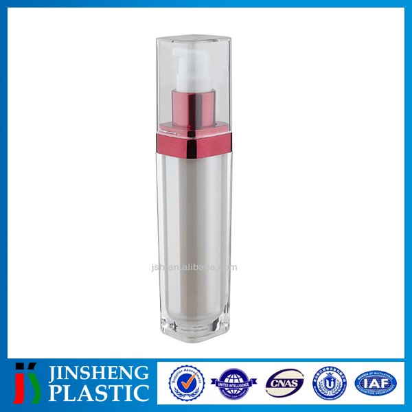 Professional Manufacturer ISO9001 Empty Acrylic oval plastic bottle
