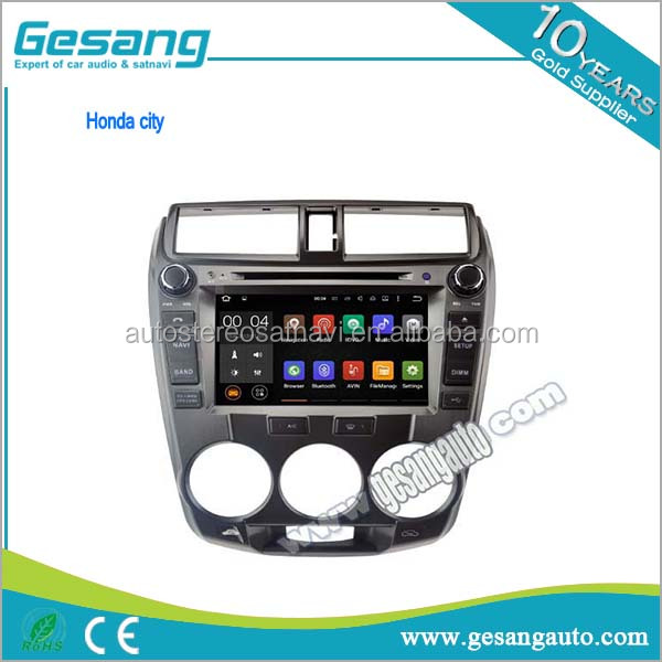 OEM Manufacturer android Car DVD Player for Honda city with GPS