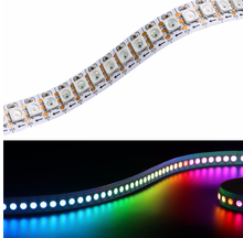 Addressable led strip 144 LEDs/M WS 2812 white pcb non-waterproof 1m magic color rgb addressable 144 led ws2812b