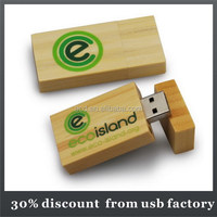 classic bulk 64GB natural wooden usb 2.0 flash drive