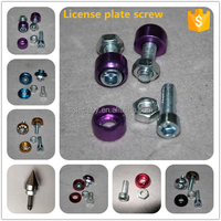 Many Color Universal M6 Aluminum License Plate Screws with high quality