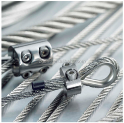 Factory price lifting tools Galvanized Pressed Steel Wire Rope Sling