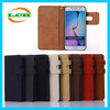 Wholesale british style flip PU leather case with cards slot and phone holder for samsung s7