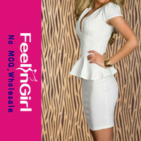 Outstanding New Style Pure White Elegant Bodycon Dresses Philippines
