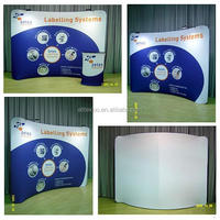 10ft tension fabric display with 6ft table cover